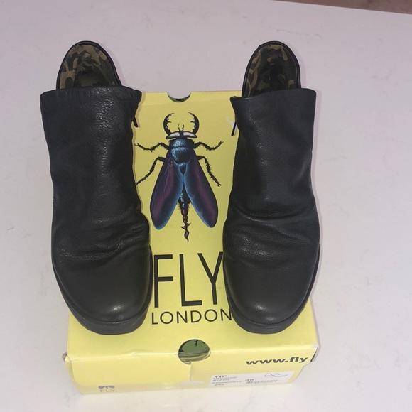 e78da84adbd Fly London Shoes | Womens Black Yip Ankle Booties Size 39 | Poshmark